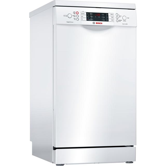 Bosch Serie 6 Slimline Dishwasher - White - A++ Rated