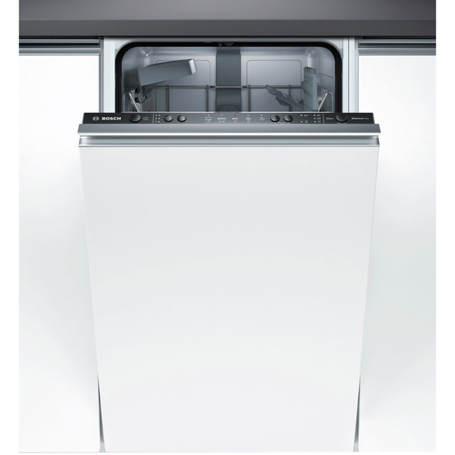 Bosch Serie 2 Fully Integrated Slimline Dishwasher - Black Control Panel with Fixed Door Fixing Kit - A+ Rated