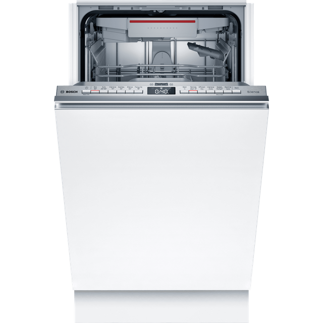 Bosch Serie 4 SPV4EMX21G Wifi Connected Fully Integrated Slimline Dishwasher - Stainless Steel Control Panel with Fixed Door Fixing Kit - D Rated
