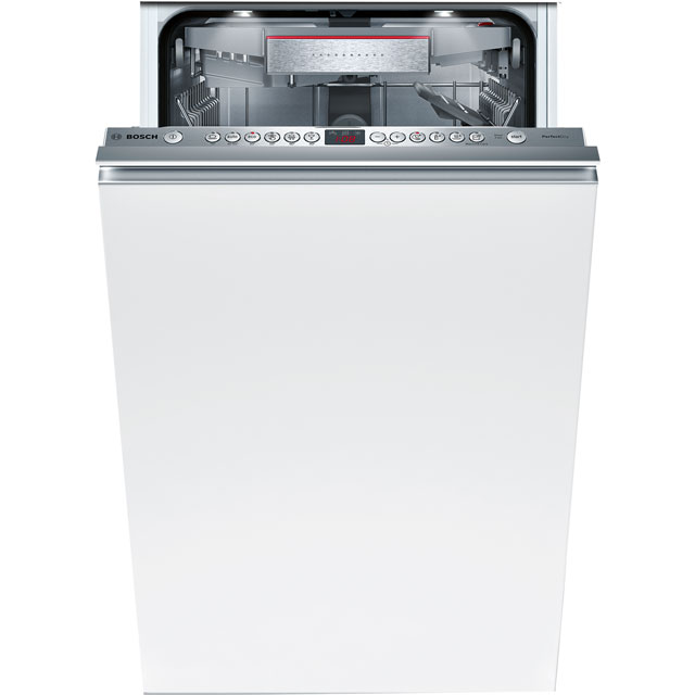 Bosch Serie 6 SPV66TX01E Fully Integrated Slimline Dishwasher - Stainless Steel - SPV66TX01E_SS - 1