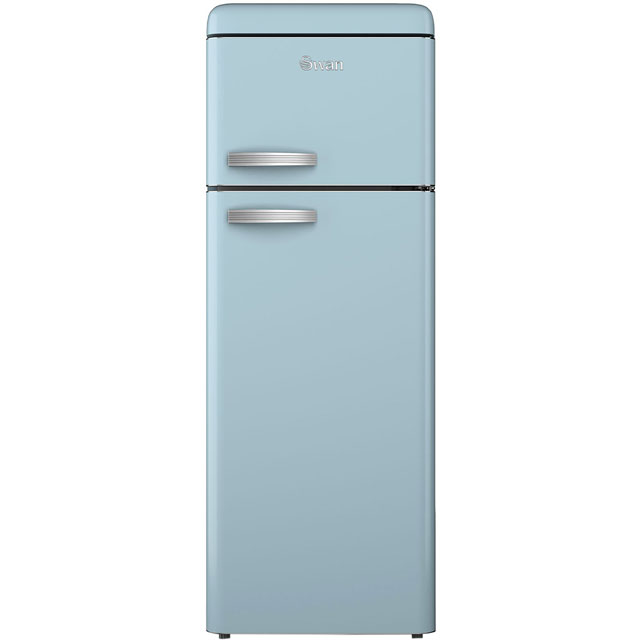 Swan Retro SR11010BLN 80/20 Fridge Freezer - Blue - A+ Rated Best Price, Cheapest Prices