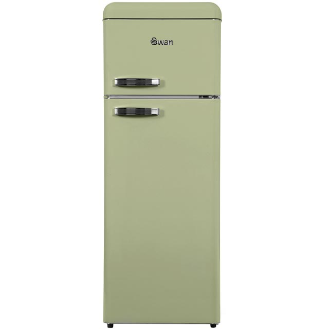 Swan Retro SR11010GN 80/20 Fridge Freezer - Green - A+ Rated - SR11010GN_GR - 1