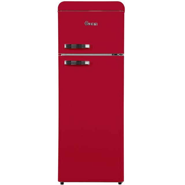 Swan Retro SR11010RN 80/20 Fridge Freezer - Red - A+ Rated Best Price, Cheapest Prices