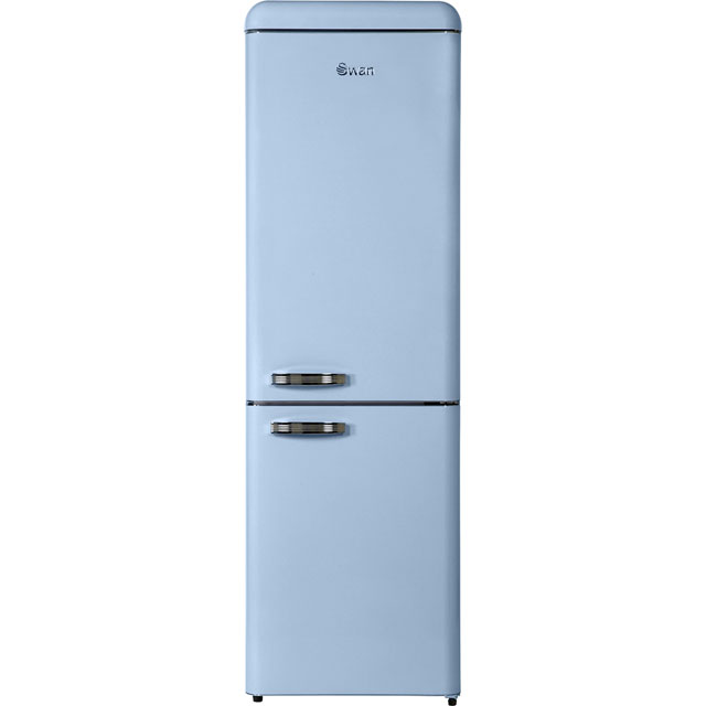 Swan Retro 70/30 Fridge Freezer - Blue - A+ Rated