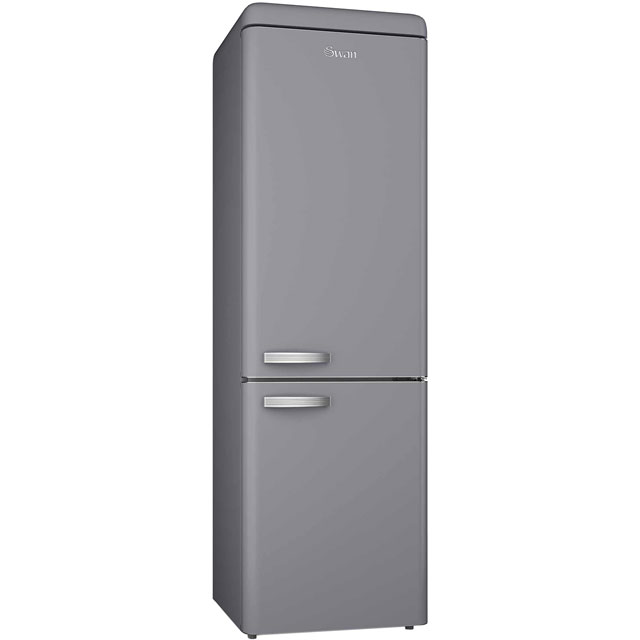 Swan Retro SR11020GRN 70/30 Fridge Freezer - Grey - A+ Rated - SR11020GRN_GY - 1