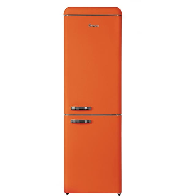 Swan Retro SR11020ON Fridge Freezer - Orange - SR11020ON_OR - 1