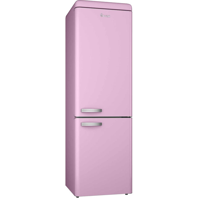 Swan Retro SR11020PN 70/30 Fridge Freezer - Pink - A+ Rated - SR11020PN_PK - 1