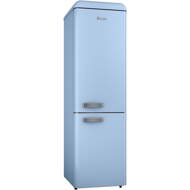 Swan Retro Slimline SR11025BLN 70/30 Fridge Freezer - Blue - A+ Rated - SR11025BLN_BL - 1