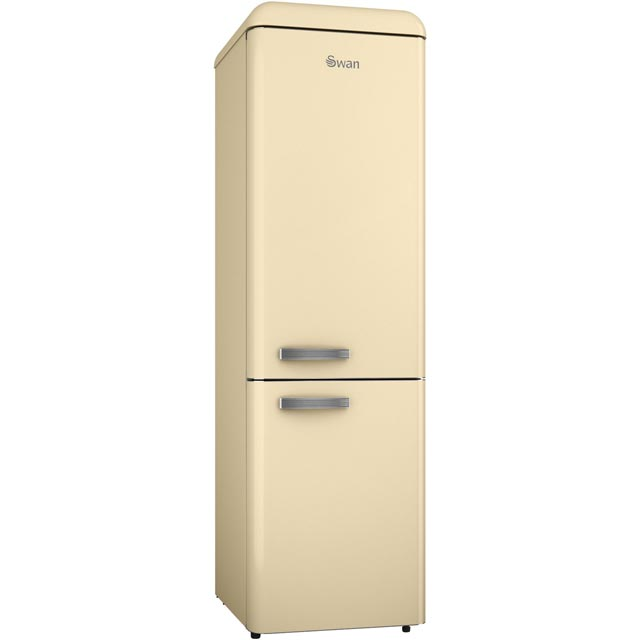 Swan Retro Slimline SR11025CN 70/30 Fridge Freezer - Cream - A+ Rated - SR11025CN_CR - 1