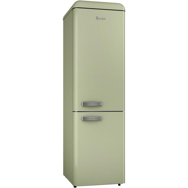 Swan Retro Slimline SR11025GN 70/30 Fridge Freezer - Green - A+ Rated - SR11025GN_GN - 1
