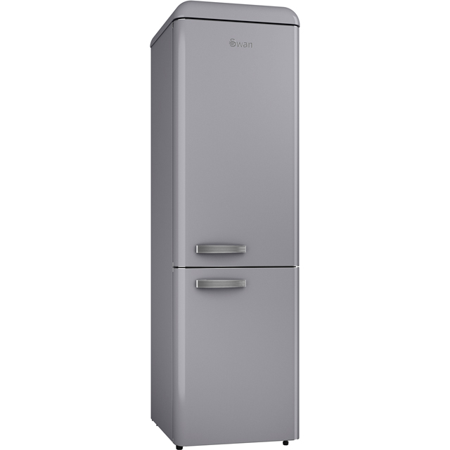 Swan Retro Slimline SR11025GRN 70/30 Fridge Freezer - Grey - A+ Rated - SR11025GRN_GY - 1