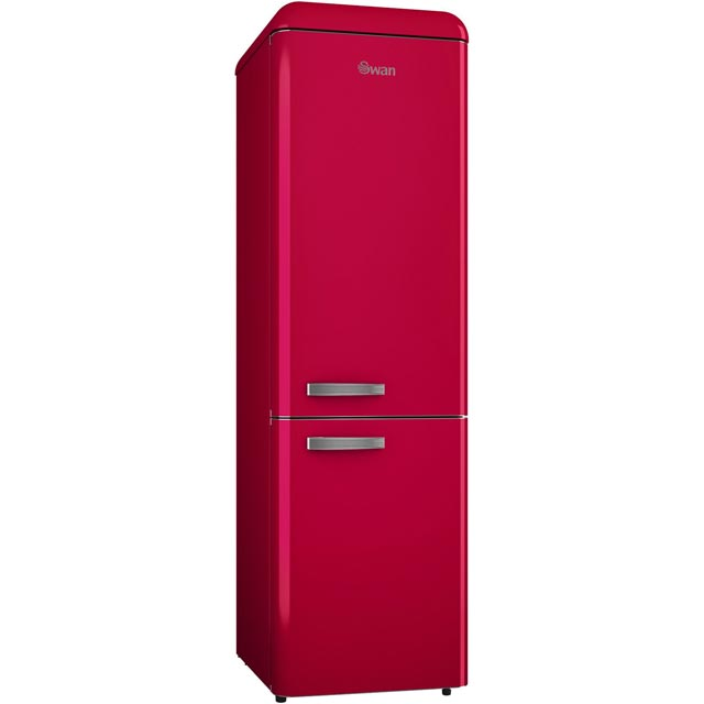 Swan Retro Slimline SR11025RN 70/30 Fridge Freezer - Red - A+ Rated