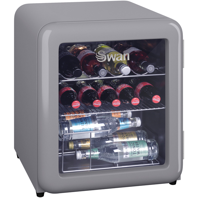 Swan SR16210GRN Table Top Wine Cooler - Grey - A+ Rated