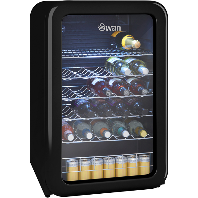 Swan Retro Wine Cooler - Black - A+ Rated