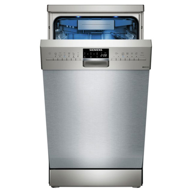 Siemens IQ-500 SR256I00TE Slimline Dishwasher - Stainless Steel - A++ Rated - SR256I00TE_SI - 1