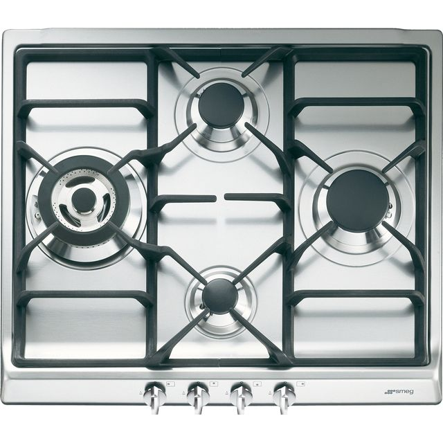 Smeg Cucina SR60GHS Built In Gas Hob - Stainless Steel - SR60GHS_SS - 1