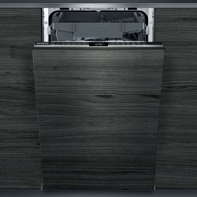 Siemens IQ-300 SR93EX20MG Wifi Connected Fully Integrated Slimline Dishwasher - Black Control Panel with Sliding Door Fixing Kit - D Rated