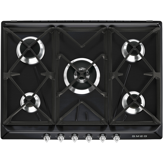 Smeg Victoria SR975NGH Built In Gas Hob - Black - SR975NGH_BK - 1