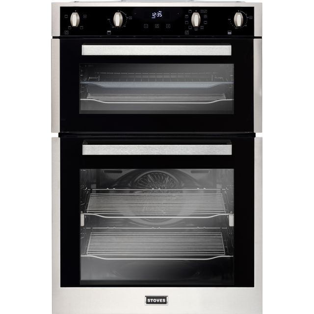 Stoves ST BI902MFCT Built In Double Oven - Stainless Steel - ST BI902MFCT_SS - 1