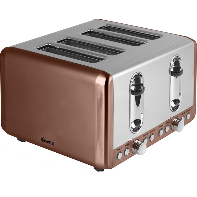 Swan 4 Slice Toaster - Copper