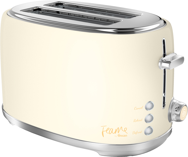 Swan Fearne By Swan ST20010HON 2 Slice Toaster - Honey - ST20010HON_HY - 1
