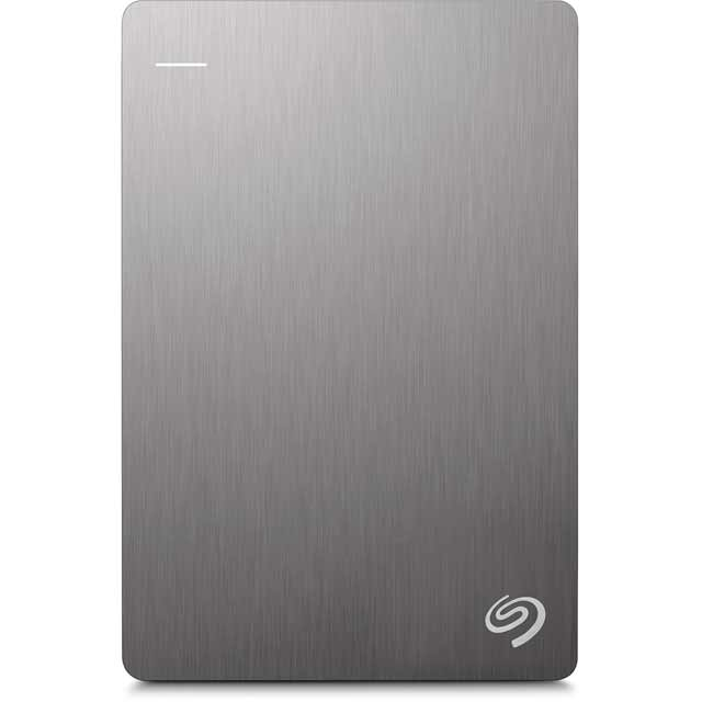 Seagate Backup Plus Slim 1TB Portable Hard Drive - Silver - STDR1000201 - 1