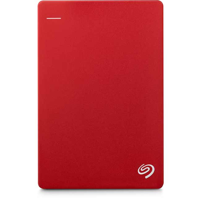 Seagate Backup Plus Slim 1TB Portable Hard Drive - Red - STDR1000203 - 1