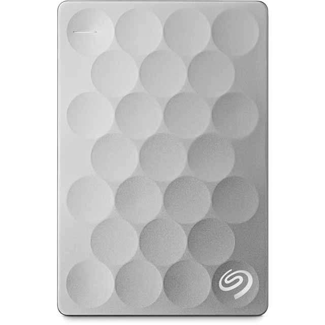 Seagate Backup Plus Ultra Slim STEH2000200 Hard Drives & External Storage in Platinum
