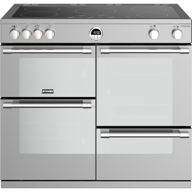 Stoves Sterling S1000EI 100cm Electric Range Cooker - Stainless Steel - Sterling S1000EI_SS - 1
