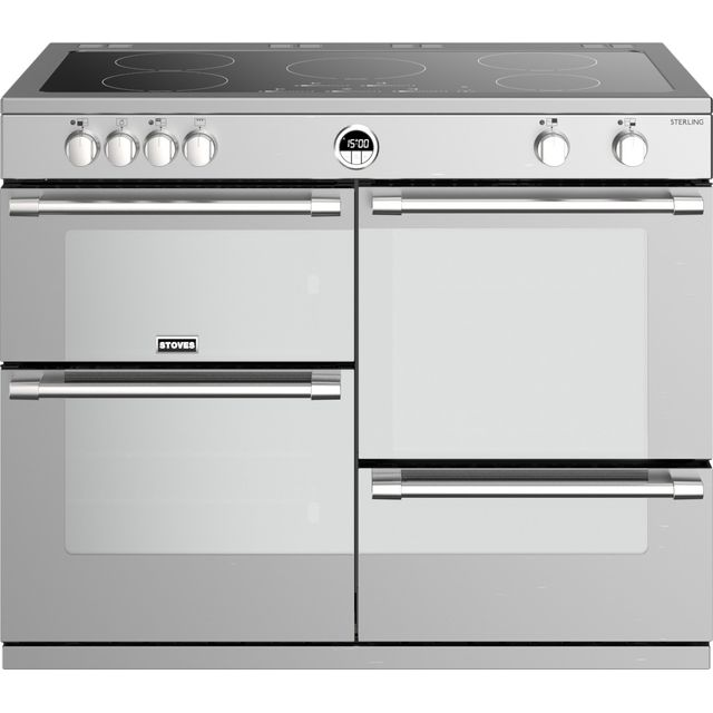 Stoves Sterling S1100EI 110cm Electric Range Cooker - Stainless Steel - Sterling S1100EI_SS - 1