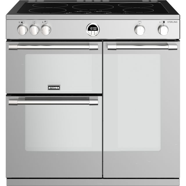 Stoves Sterling S900EI 90cm Electric Range Cooker with Induction Hob - Stainless Steel - A/A/A Rated