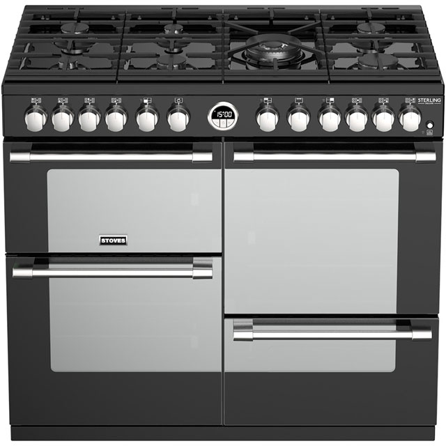 Stoves Sterling Deluxe S1000DF 100cm Dual Fuel Range Cooker - Stainless Steel - Sterling Deluxe S1000DF_SS - 2