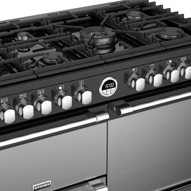 Stoves Sterling Deluxe S1000DF 100cm Dual Fuel Range Cooker - Stainless Steel - Sterling Deluxe S1000DF_SS - 4