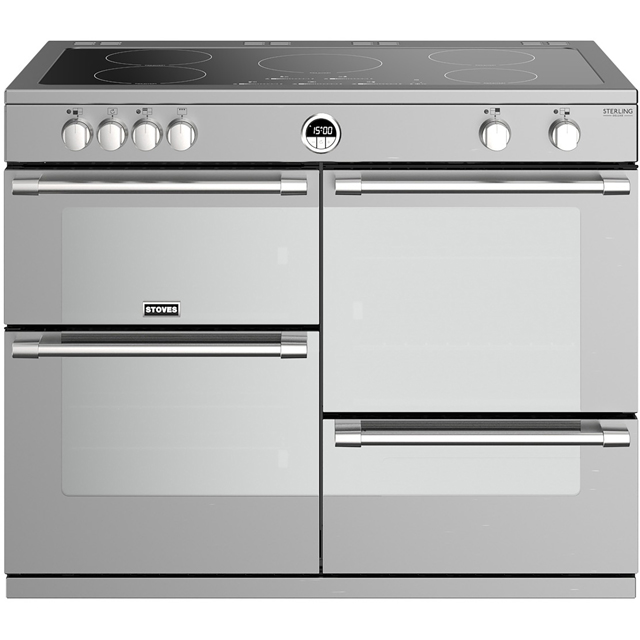 Stoves Sterling Deluxe S1000EI Electric Range Cooker - Stainless Steel - Sterling Deluxe S1000EI_SS - 1