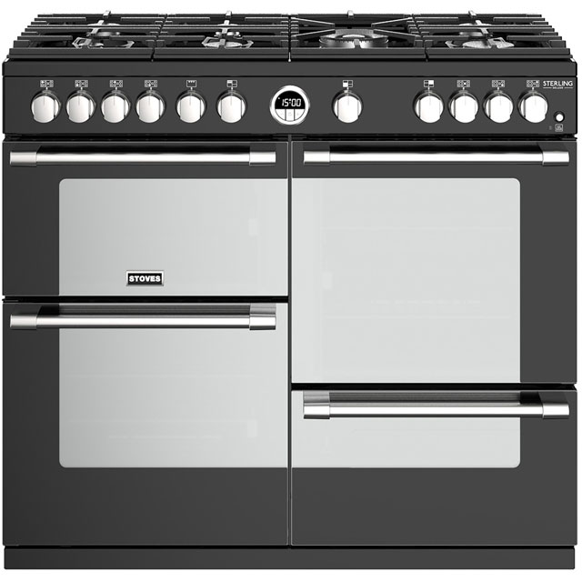 Stoves Gas Range Cooker - Black - A/A/A Rated