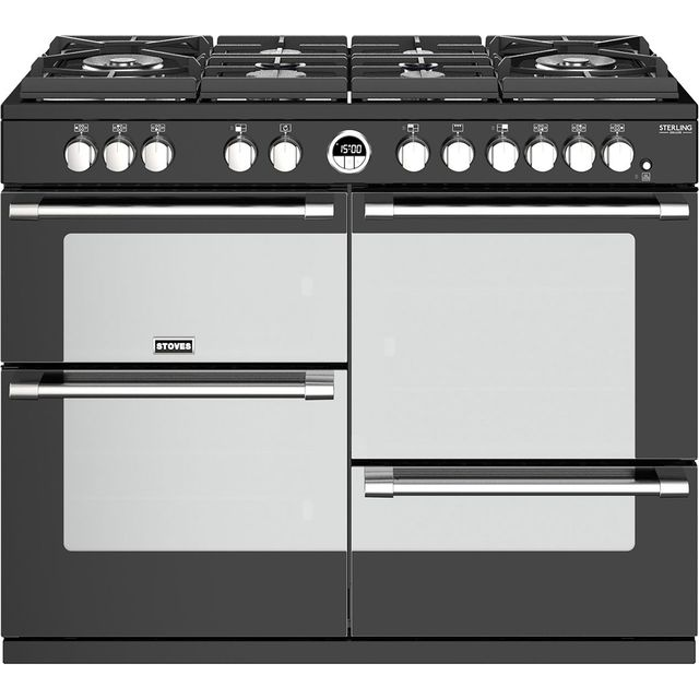 Stoves 110cm Dual Fuel Range Cooker - Black - A/A/A Rated