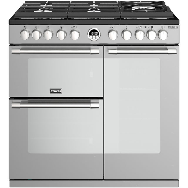 Stoves Sterling Deluxe S900GTG 90cm Dual Fuel Range Cooker - Stainless Steel - A/A/A Rated - Sterling Deluxe S900GTG_SS - 1