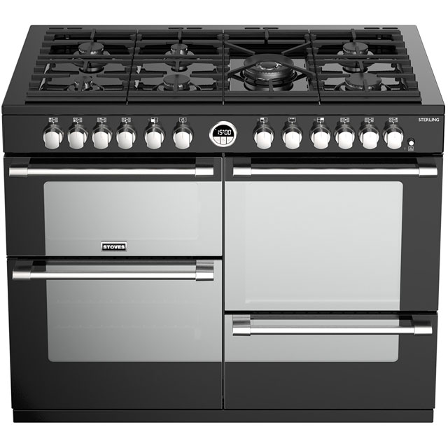 Stoves Sterling S1100DF 110cm Dual Fuel Range Cooker - Stainless Steel - Sterling S1100DF_SS - 2