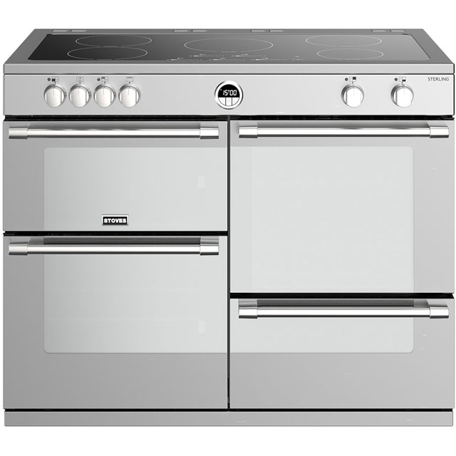 Stoves Sterling S1100EI 110cm Electric Range Cooker with Induction Hob - Stainless Steel - A/A/A Rated