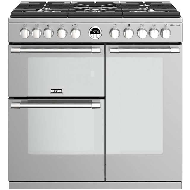 Stoves Sterling S900DF 90cm Dual Fuel Range Cooker - Stainless Steel - A/A/A Rated - Sterling S900DF_SS - 1