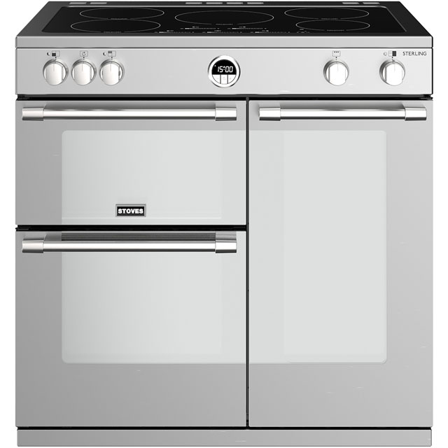 Stoves Sterling S900EI 90cm Electric Range Cooker with Induction Hob - Stainless Steel - A/A/A Rated - Sterling S900EI_SS - 1