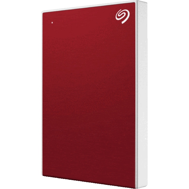 Seagate 1TB Portable Hard Drive - Red - STHN1000403 - 1