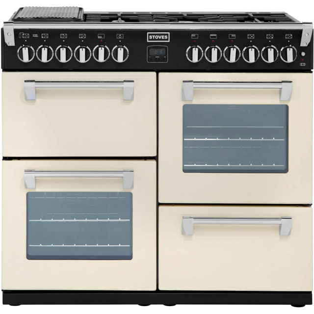 Stoves Richmond RICHMOND1000DFT 100cm Dual Fuel Range Cooker - Champagne - A Rated