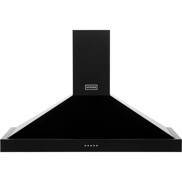 Stoves 1000RICHMONDCHMK2 100 cm Chimney Cooker Hood - Black - C Rated - 1000RICHMONDCHMK2_BK - 1