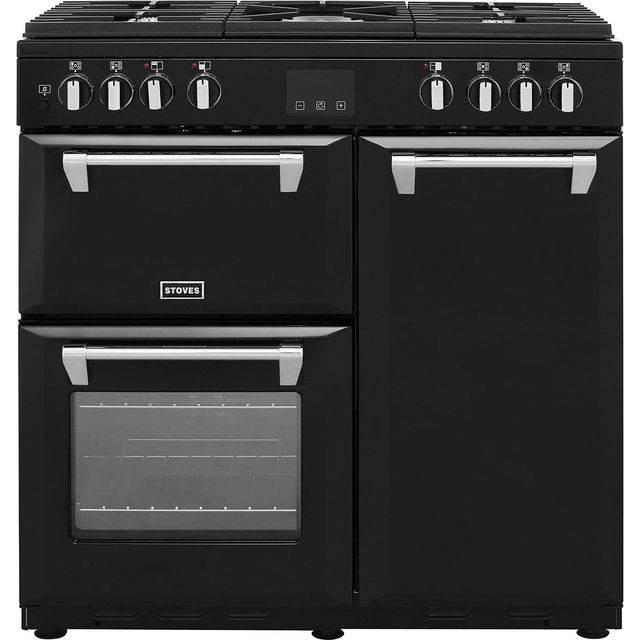 Stoves 90cm Dual Fuel Range Cooker - Black - A/A Rated