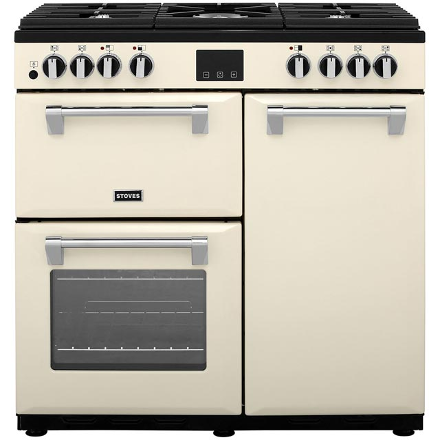 Stoves Belmont900DFT 90cm Dual Fuel Range Cooker - Cream - A/A Rated - Belmont900DFT_CR - 1