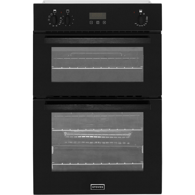 Stoves BI900EF Built In Double Oven - Black - A/B Rated - BI900EF_BK - 1