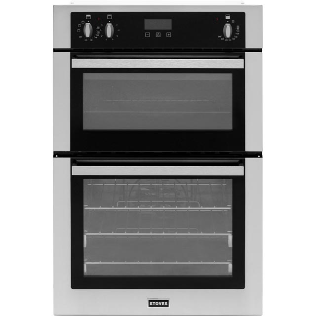 Stoves BI900EF Built In Double Oven - Stainless Steel - A/B Rated - BI900EF_SS - 1