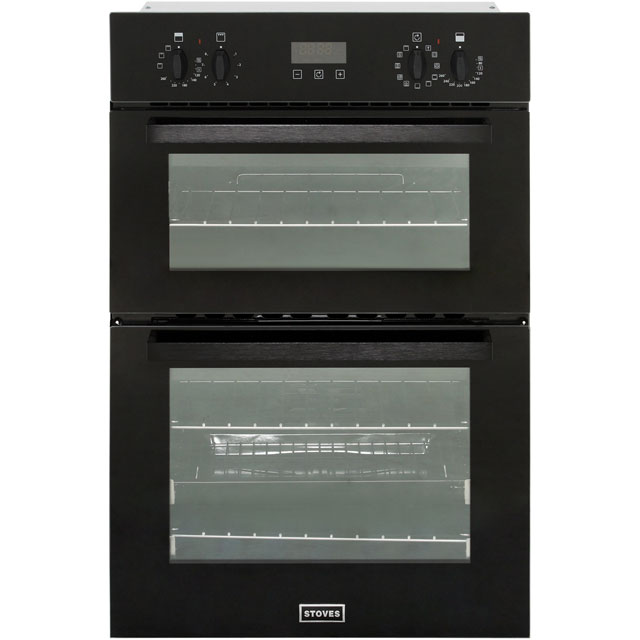 Stoves BI900MF Built In Double Oven - Black - BI900MF_BK - 1