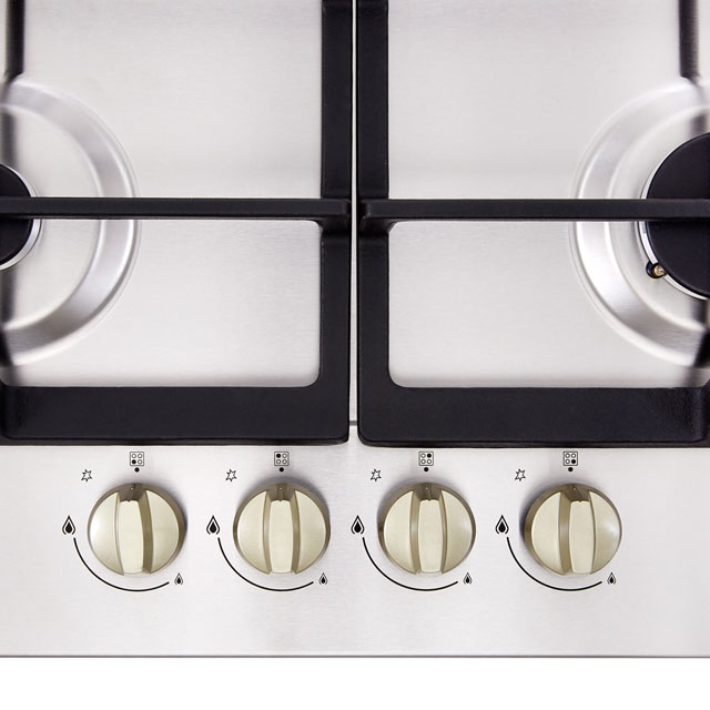 Stoves GHU60C Built In Gas Hob - Stainless Steel - GHU60C_SS - 2